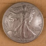 Walking Liberty Half Dollar Concho - Heads