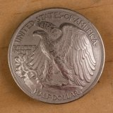 Walking Liberty Half Dollar Concho - Tails