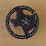 Texas/star with Barbwire Ring.