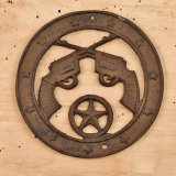 Crossed Pistols Plaque