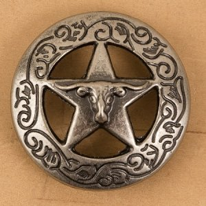 "Steer/Star with Garland 1"" Concho"